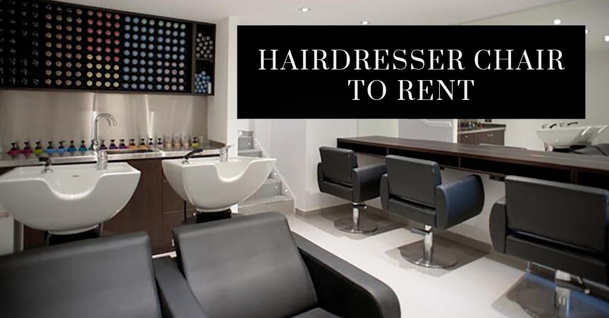 Hairdresser Chair to Rent Teddington Salon