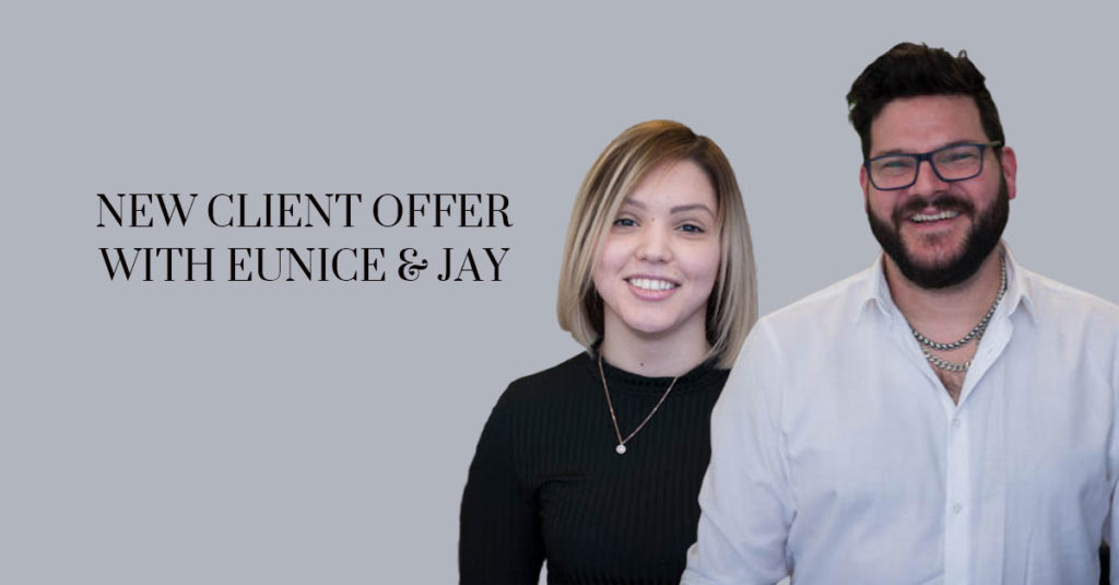 New Client Offer with Eunice Jay banner